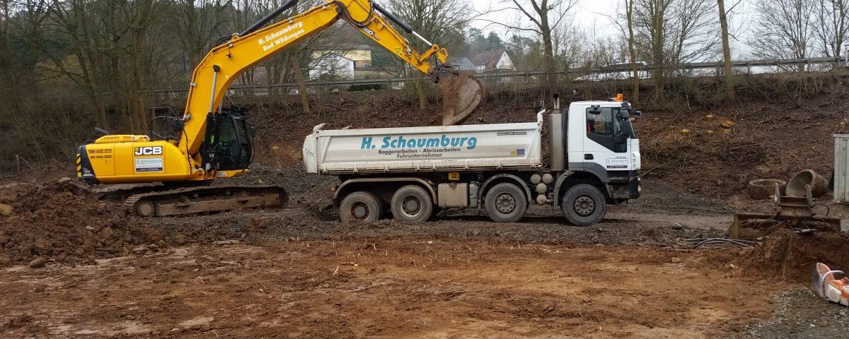 Baugruben ausbaggern